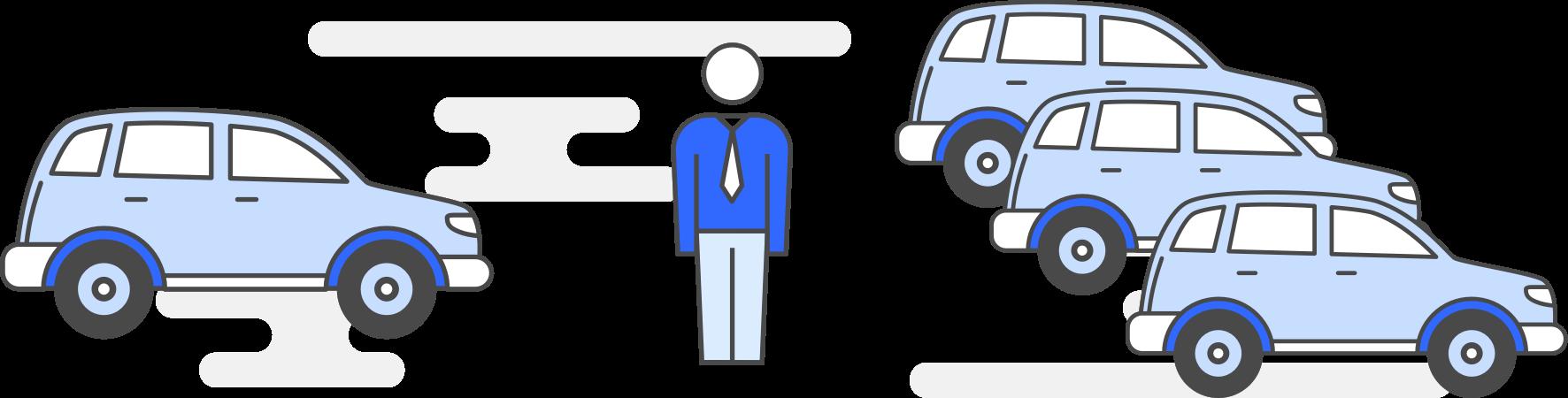 Business Car Finance Diagram