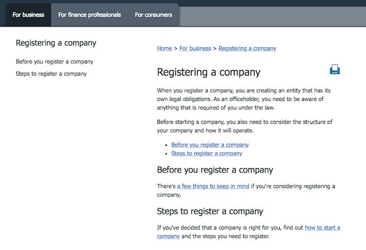 ASIC - Register Company
