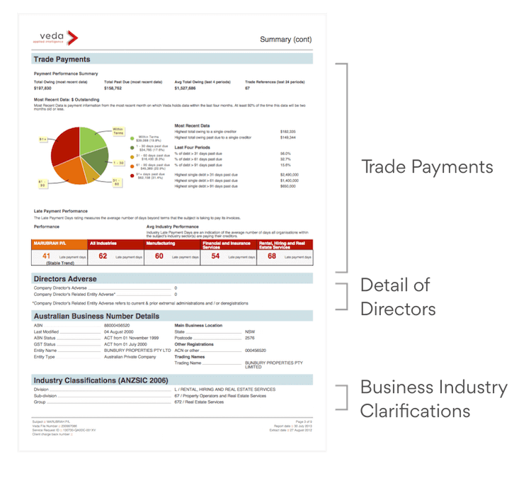 Credit Report Example Page 3 Explained