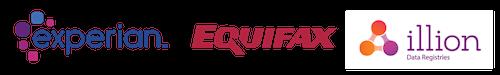 Experian Equifax Illion Logo Combined