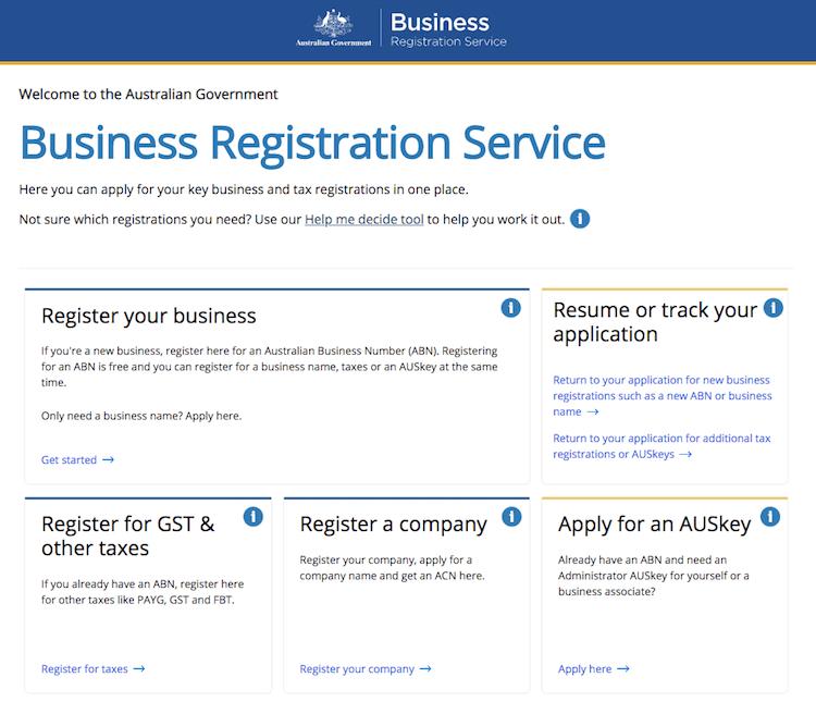 Register Business Australia