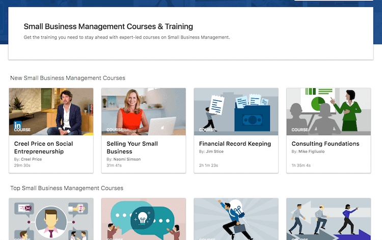 Small Business Course Linkedin