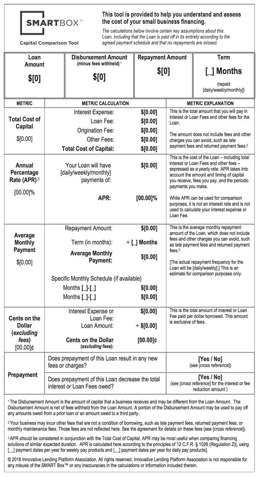 SMART Box for Term Loan