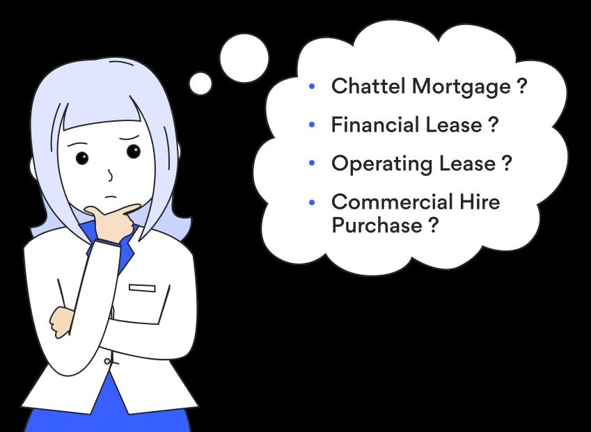 Chattel vs Finance vs Lease vs Commercial Hire Purchase