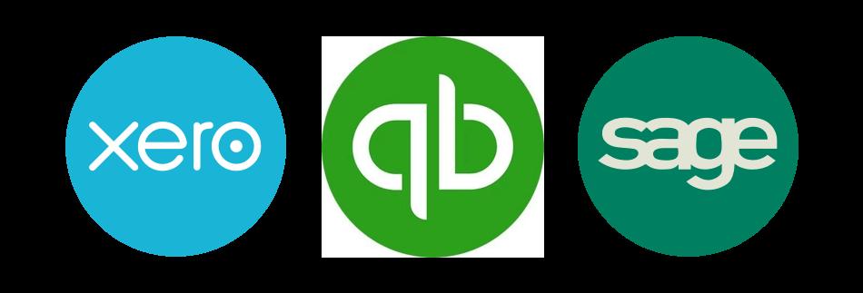 Xero Quickbooks Sage Logo